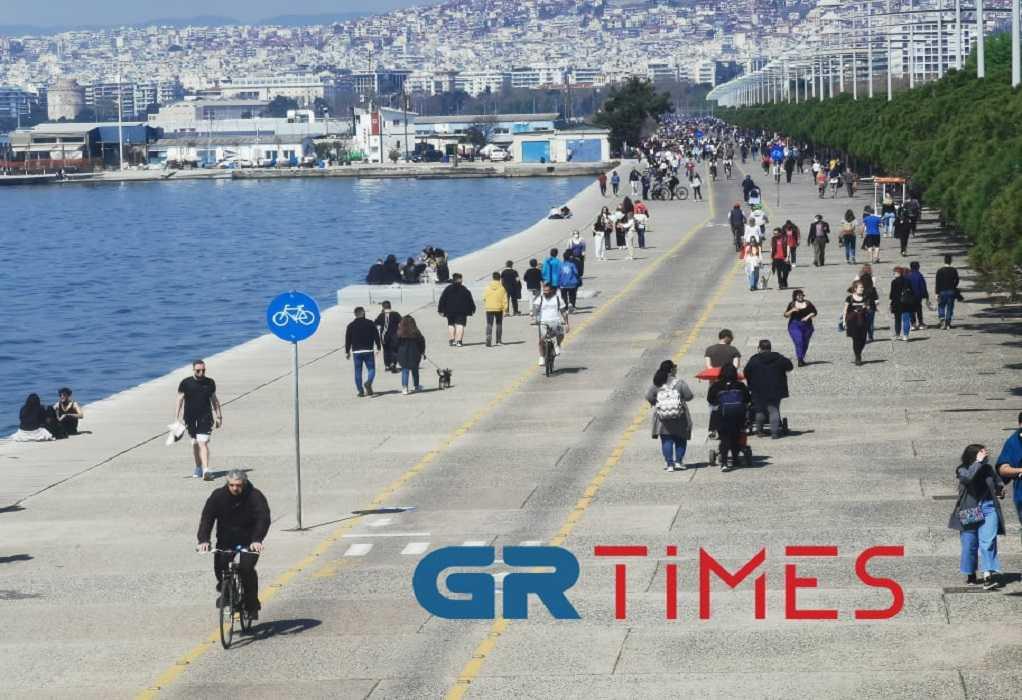 Θεσσαλονίκη: Βόλτα, μπάσκετ και ψάρεμα στη Νέα Παραλία (ΦΩΤΟ+VIDEO)