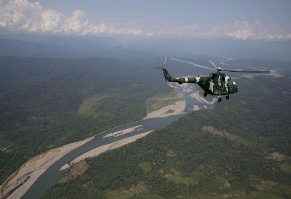 Συντριβή στρατιωτικού ελικοπτέρου στο Περού: Πέντε νεκροί, 2 αγνοούμενοι