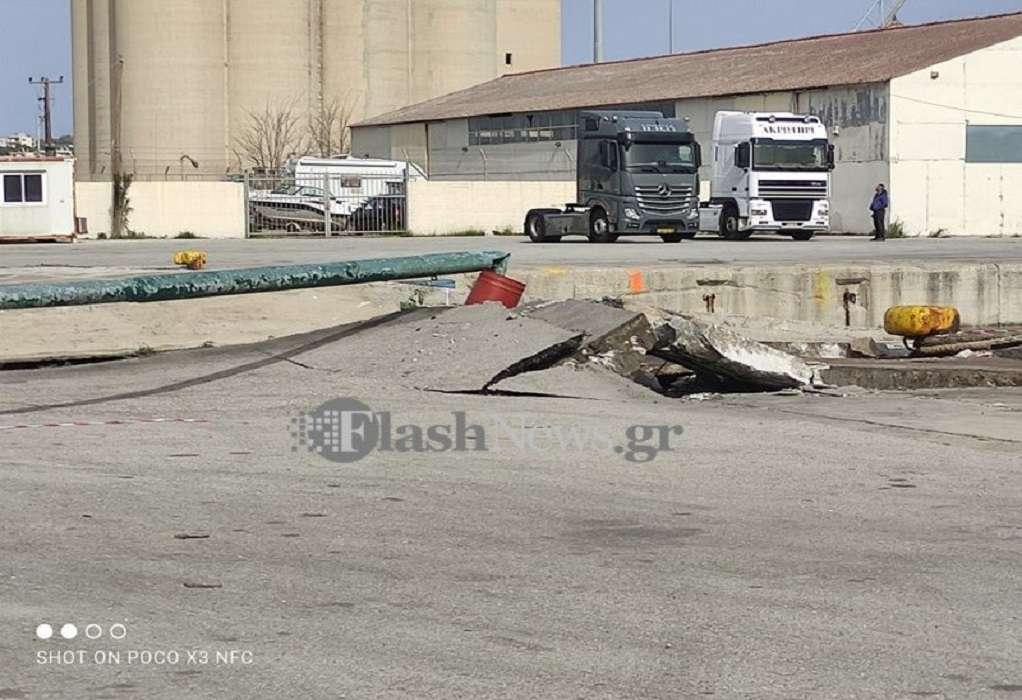 Κρήτη: Πλοίο προσέκρουσε στον προβλήτα στη Σούδα (ΦΩΤΟ-VIDEO)