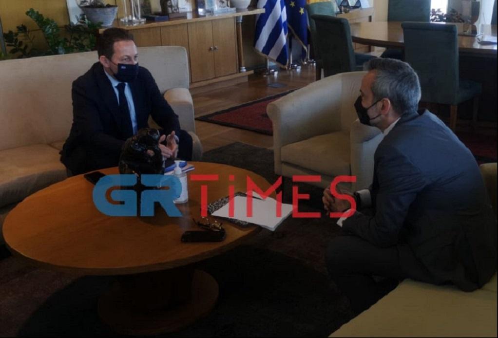 Συνάντηση Ζέρβα-Πέτσα: 30 εκ. ευρώ στη Θεσσαλονίκη μέσω του «Αν.Τρίτσης» (VIDEO)