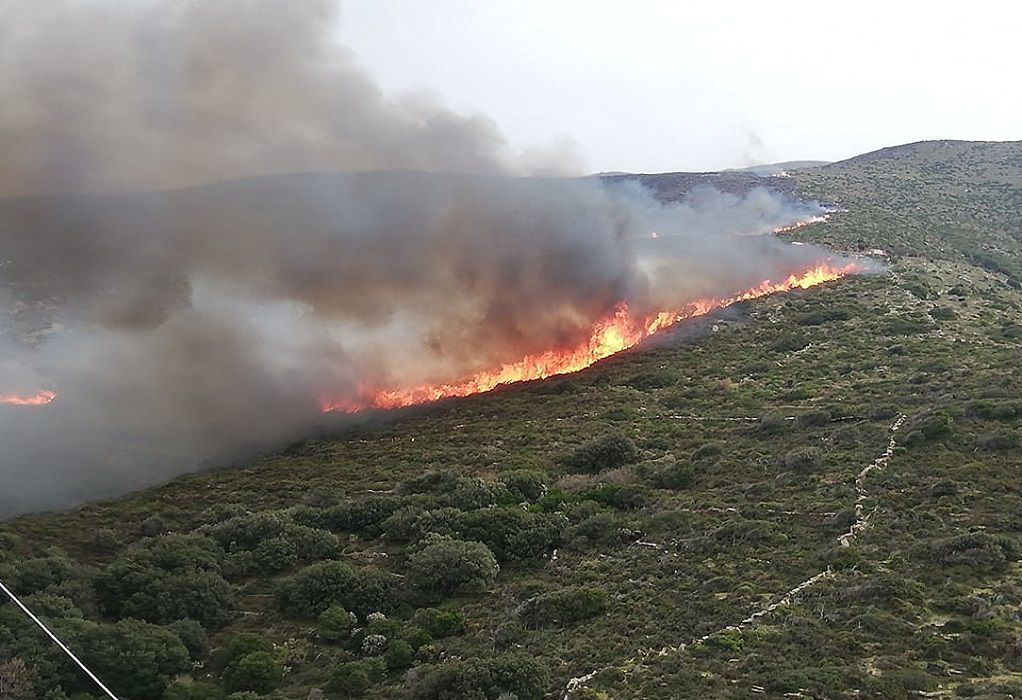 Φωτιά σε περιοχή της Σάμου