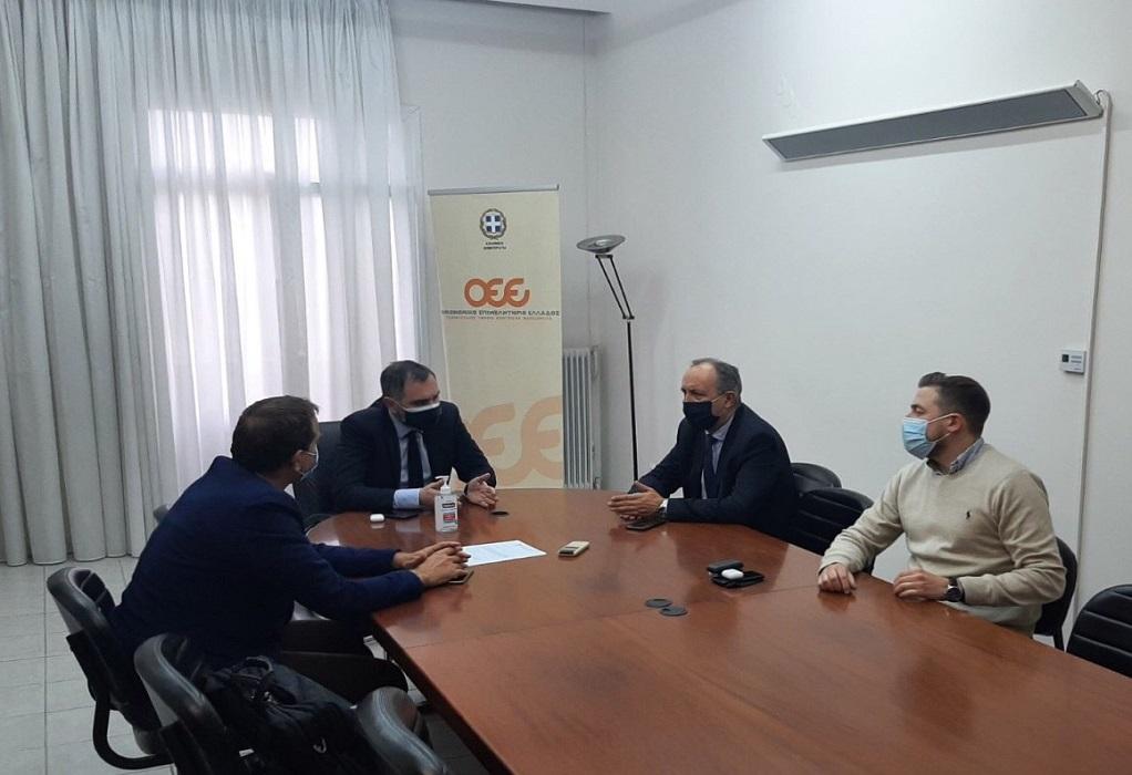 Συνάντηση Θ. Καράογλου με το Προεδρείο Οικονομικού Επιμελητηρίου Κ. Μακεδονίας