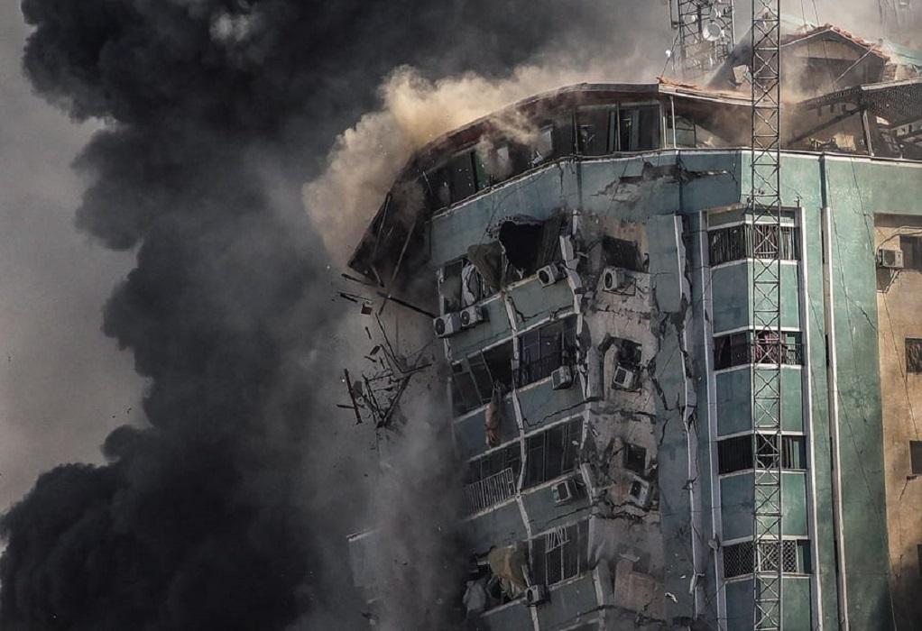 Μ. Νετανιάχου: Απόλυτα νόμιμος στόχος το κτίριο που στέγαζε ΜΜΕ