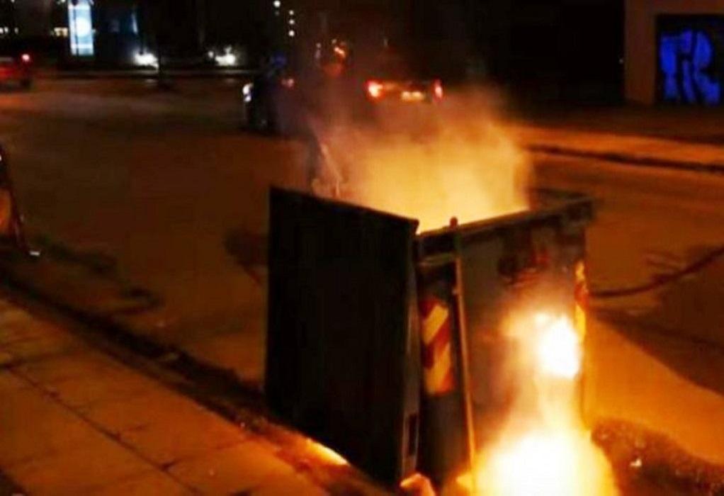 Θεσσαλονίκη: Εμπρησμοί σε κάδους τα ξημερώματα