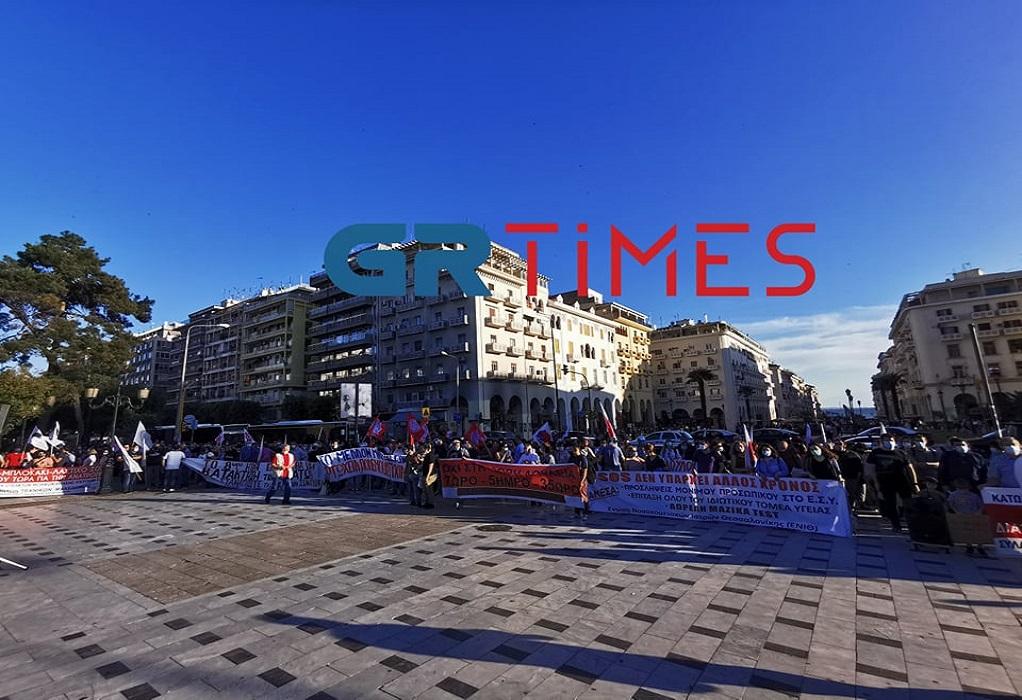 Συλλαλητήριο για το εργασιακό νομοσχέδιο στη Θεσσαλονίκη (ΦΩΤΟ-VIDEO)