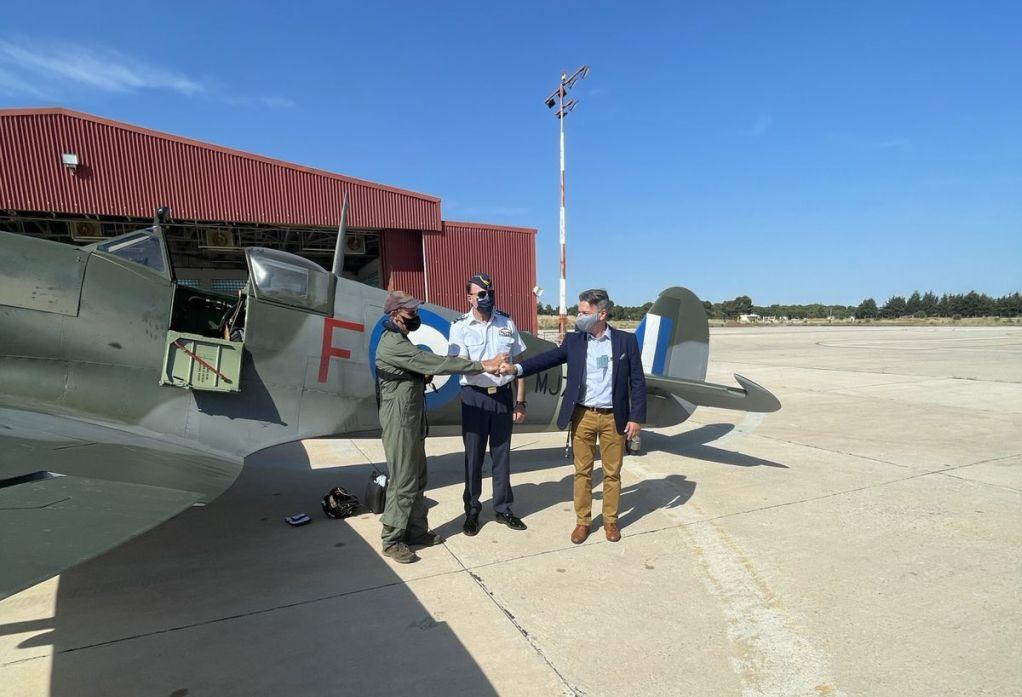 Επέστρεψε στην Ελλάδα το ανακατασκευασμένο Spitfire MJ755 από το Ηνωμένο Βασίλειο (ΦΩΤΟ)