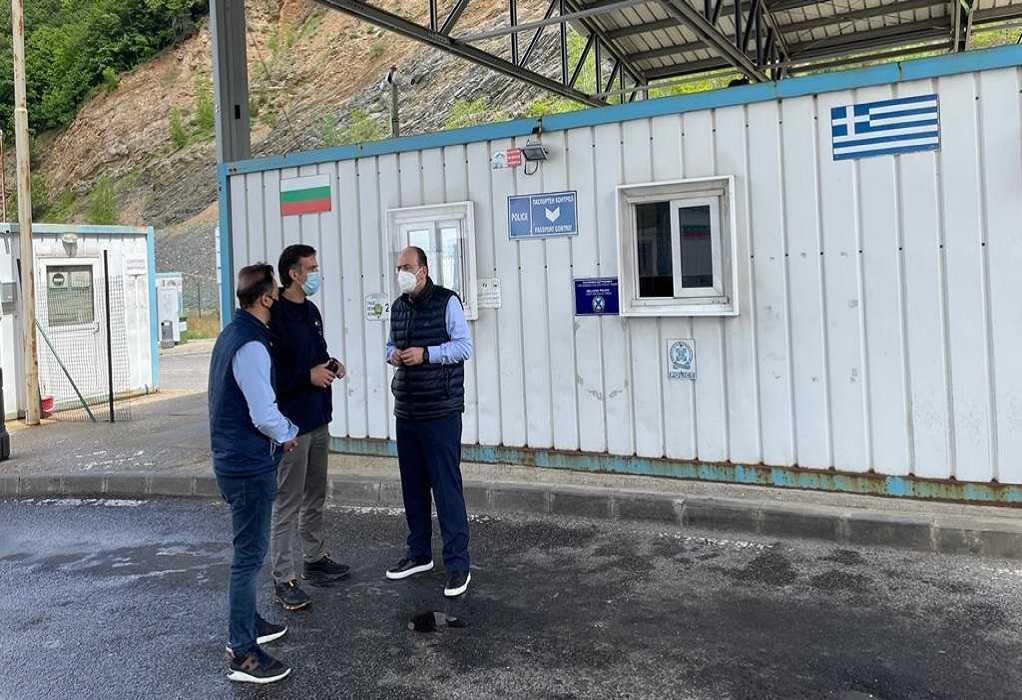 Επίσκεψη Π. Αρκουμανέα στον Μεθοριακό Σταθμό Νυμφαίας