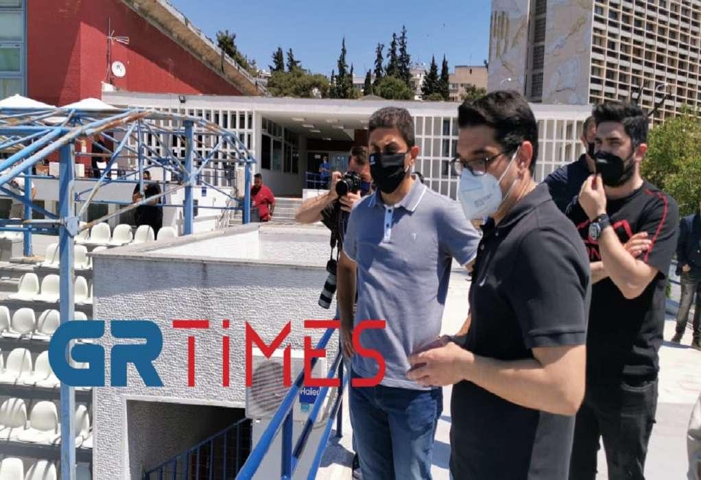 Στο Εθνικό Κολυμβητήριο Θεσσαλονίκης ο Λ. Αυγενάκης (ΦΩΤΟ-VIDEO)