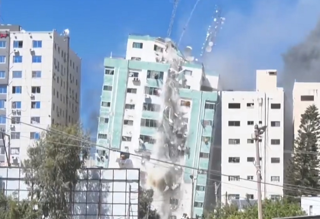 Γάζα: Το Ισραήλ κατέρριψε το κτίριο που στεγαζόταν AP και Al – Jazeera (VIDEO)