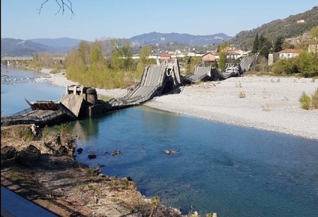 Ιταλία: Κατέρρευσε γέφυρα σαν χάρτινος πύργος