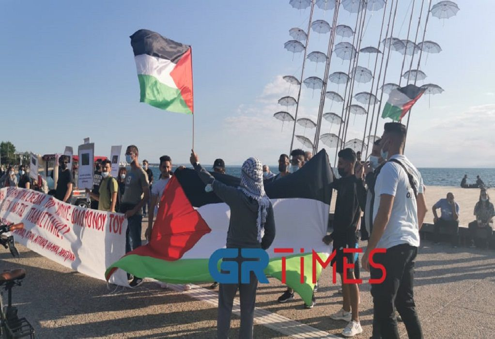 Κινητοποίηση φοιτητών και Παλαιστίνιων στη Θεσσαλονίκη (ΦΩΤΟ+VIDEO)
