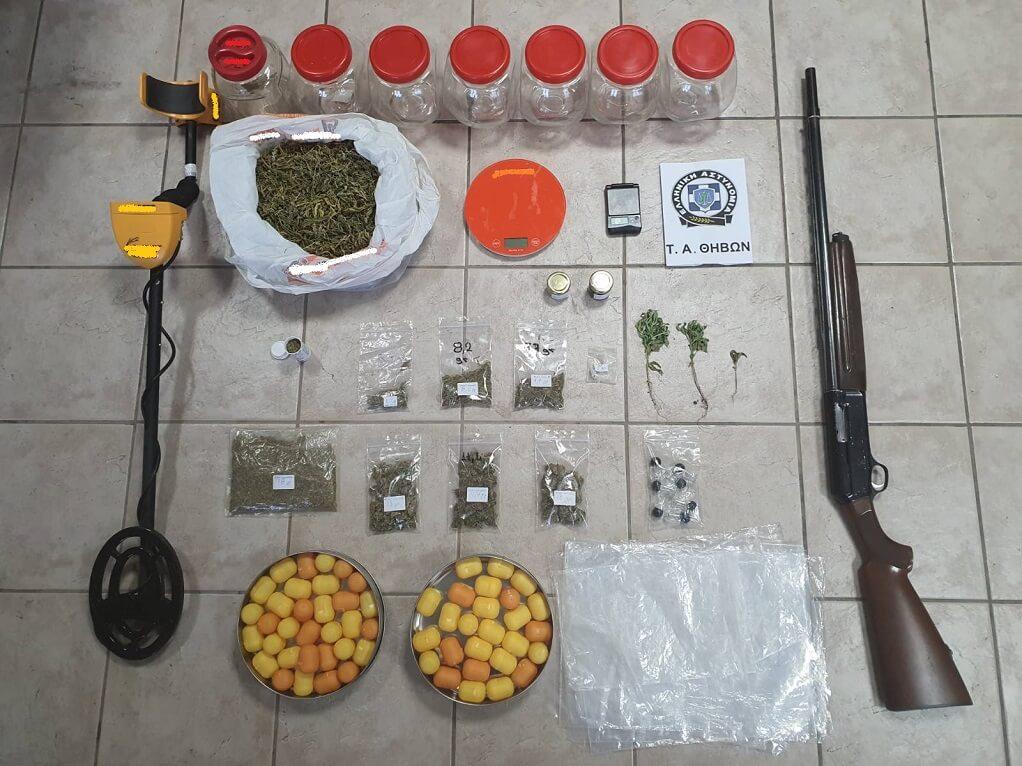Θήβα: Συνελήφθη για διακίνηση ναρκωτικών και οπλοφορία