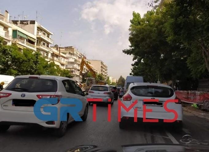 Θεσ/νίκη: Μποτιλιάρισμα λόγω… έργων στην Κ. Καραμανλή