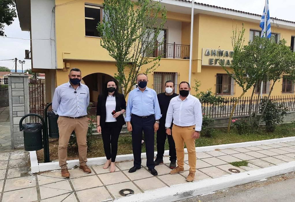 Καράογλου: Επίσκεψη στη ΔΕ Εγνατίας του δήμου Βόλβης