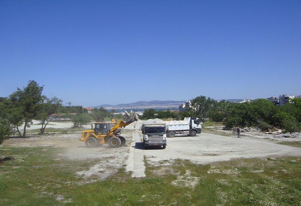 Δ. Καλαμαριάς: Συνεχίζεται ο καθαρισμός στο πάρκο Κόδρα
