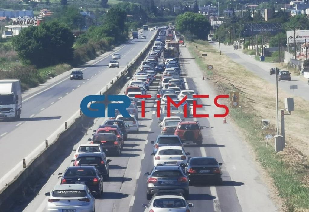 Θεσσαλονίκη: Σημειωτόν στον δρόμο προς Χαλκιδική (VIDEO – ΦΩΤΟ)