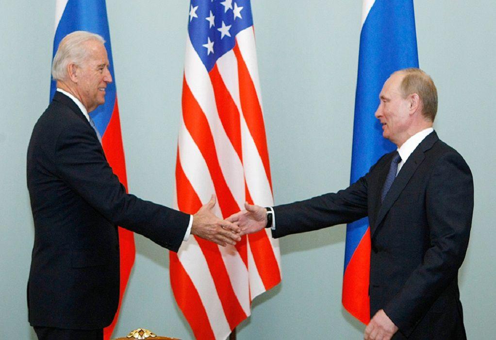 Στις 16 Ιουνίου η συνάντηση Πούτιν-Μπάιντεν στη Γενεύη