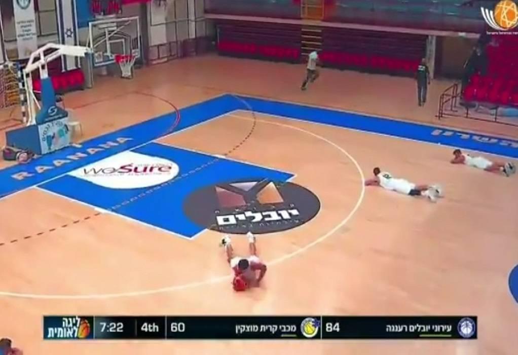 Ισραήλ: Πύραυλος την ώρα αγώνα μπάσκετ – Έπεσαν στο παρκέ οι παίκτες!