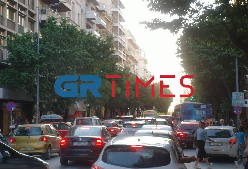 """Θεσ/νίκη: Κυκλοφοριακό """"έμφραγμα"""" στο κέντρο λόγω δύο πορειών (ΦΩΤΟ-VIDEO)"""