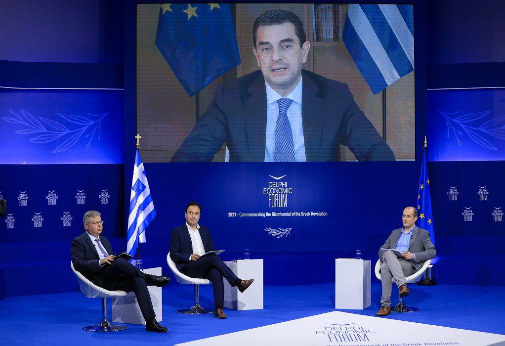 Οικονομικό Φόρουμ Δελφών: Η Ελλάδα πρωτοστατεί στον ενεργειακό μετασχηματισμό
