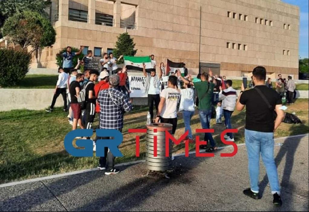 Θεσ/νίκη: Συγκέντρωση αλληλεγγύης στην Παλαιστίνη (ΦΩΤΟ)