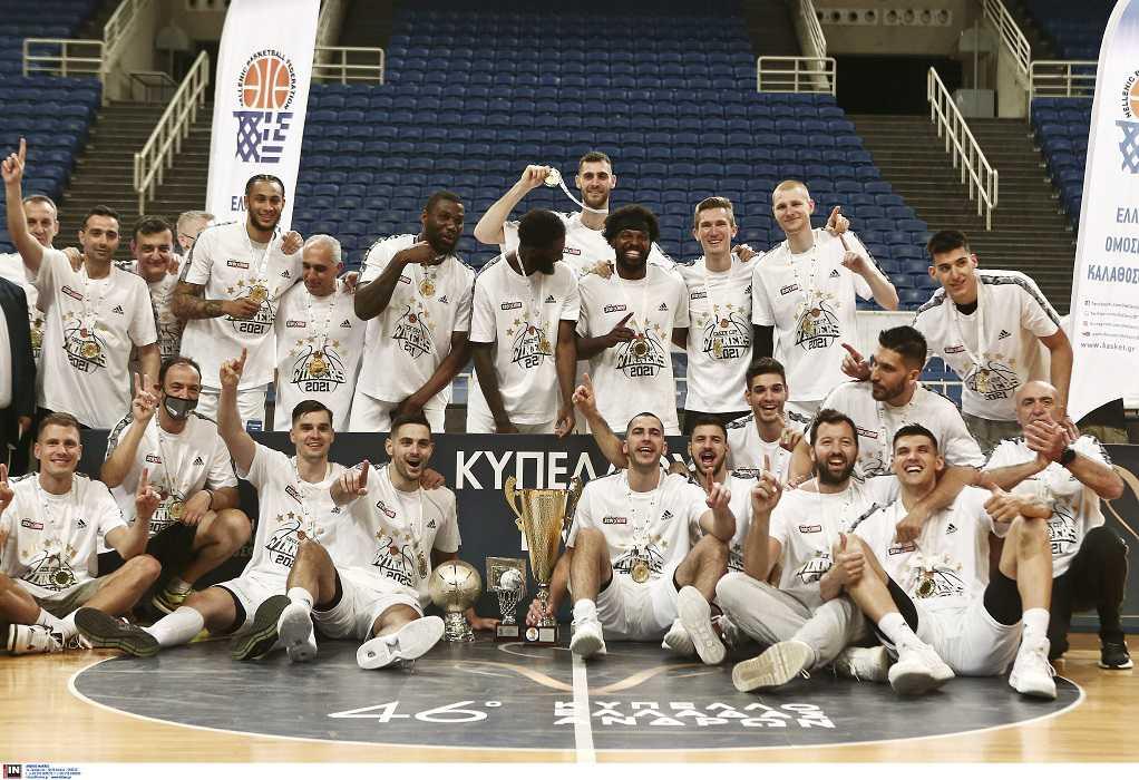 Μπάσκετ: Κυπελλούχος για 20η φορά ο Παναθηναϊκός – 91-79 τον Προμηθέα