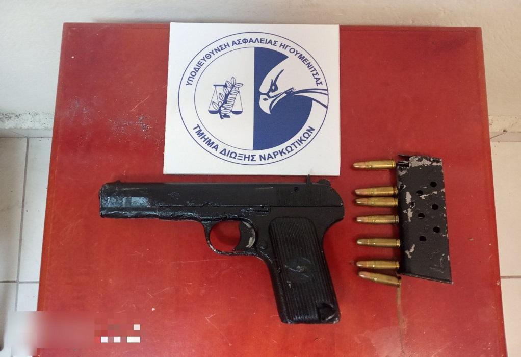 Ηγουμενίτσα: Συνελήφθη με πιστόλι και 8 κιλά κάνναβης