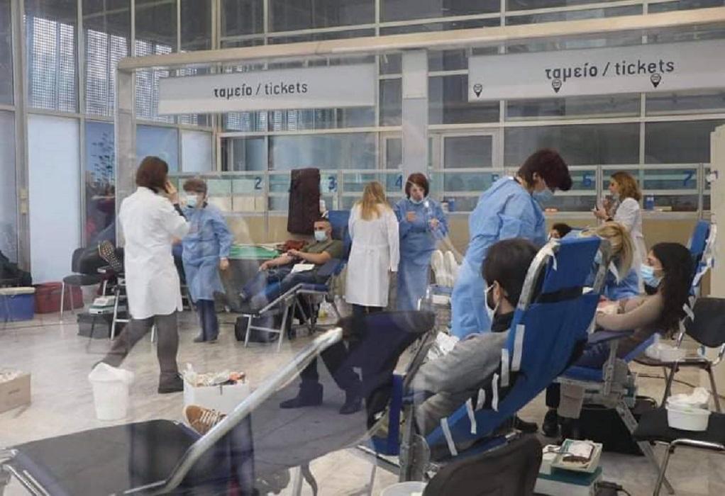 ΠΚΜ: Μαζική η προσέλευση των πολιτών στην τρίτη δράση εθελοντικής αιμοδοσίας