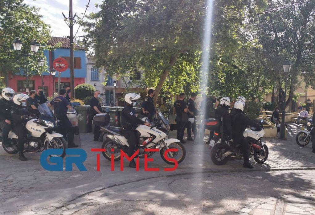 Θεσ/νίκη – Πλ. Καλλιθέας: Αστυνομική επιχείρηση για αποτροπή συνωστισμού (ΦΩΤΟ+VIDEO)
