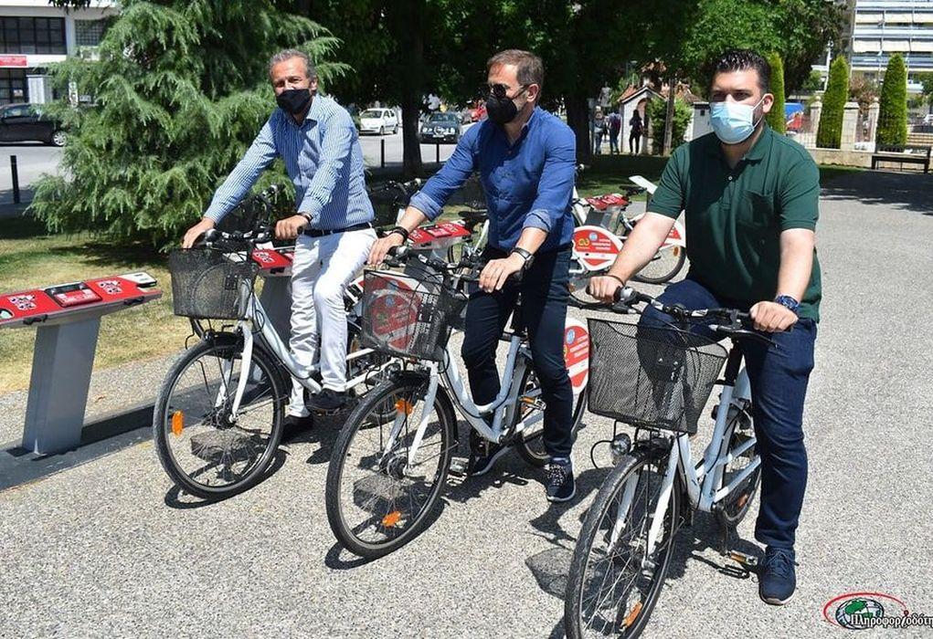 Βέροια: Εγκαινιάστηκε νέος τρόπος ενοικίασης κοινόχρηστων ποδηλατών