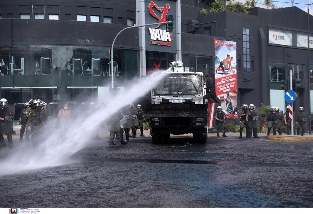 Αθήνα: Επεισόδια και χημικά στην πορεία έξω από την πρεσβεία του Ισραήλ (ΦΩΤΟ)