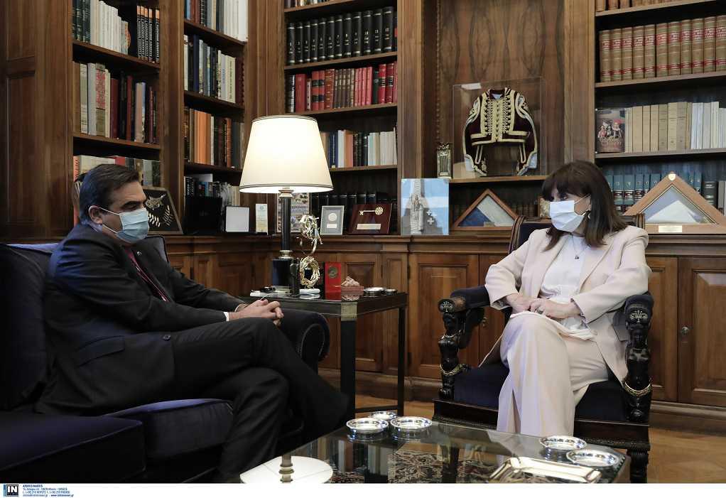Συνάντηση Κ. Σακελλαροπούλου με τον Μ. Σχοινά – Τι συζήτησαν