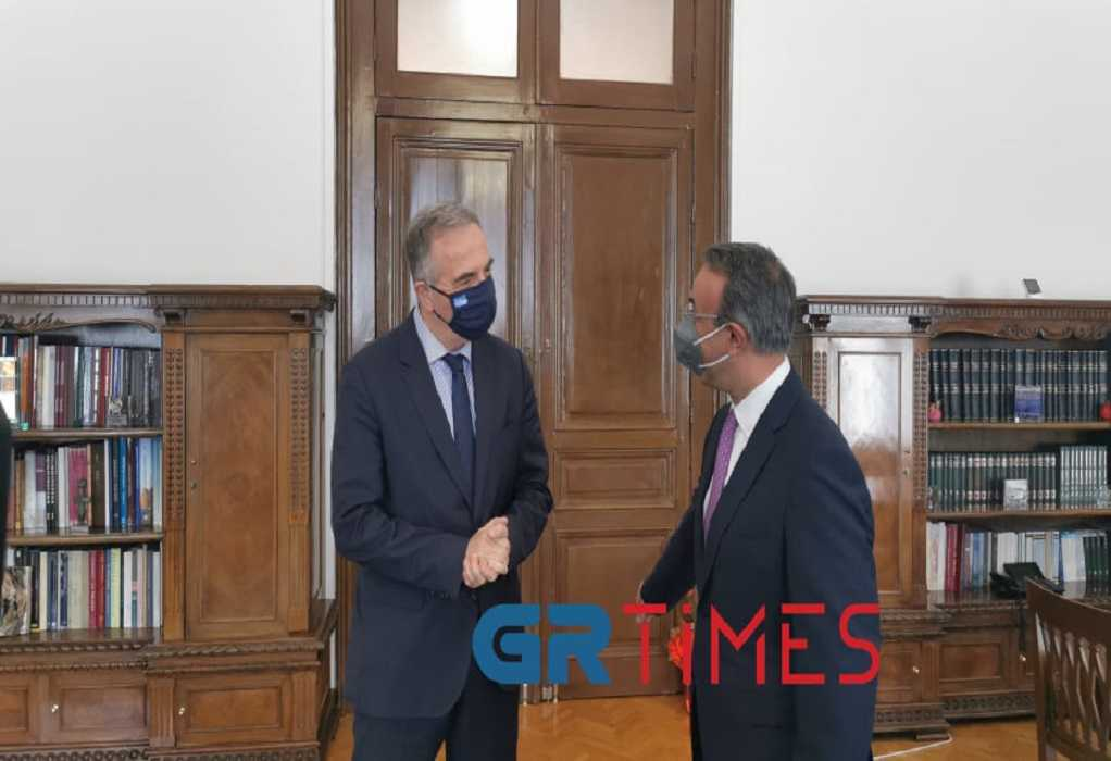 Στη Θεσσαλονίκη ο Χρ. Σταϊκούρας – Συνάντηση με Στ. Καλαφάτη (ΦΩΤΟ+VIDEO)