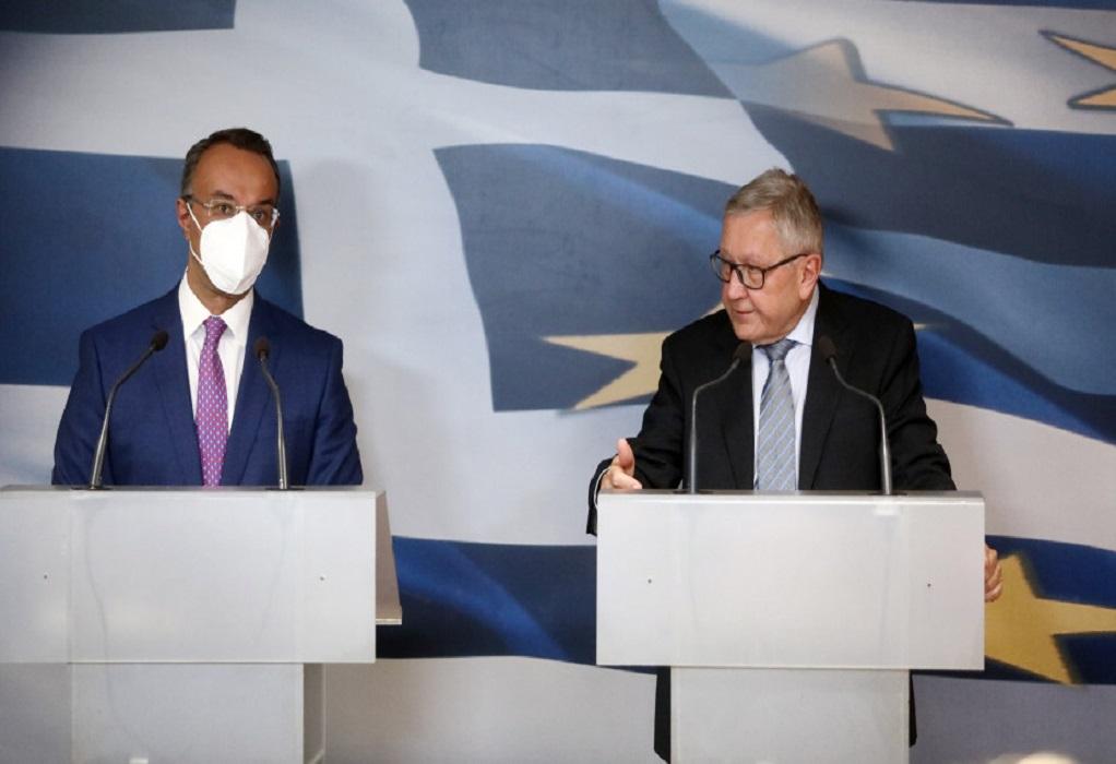 Σταϊκούρας-Ρέγκλινγκ: Η Ελλάδα οικοδομεί σταδιακά τη μετά-κορωνοϊό εποχή