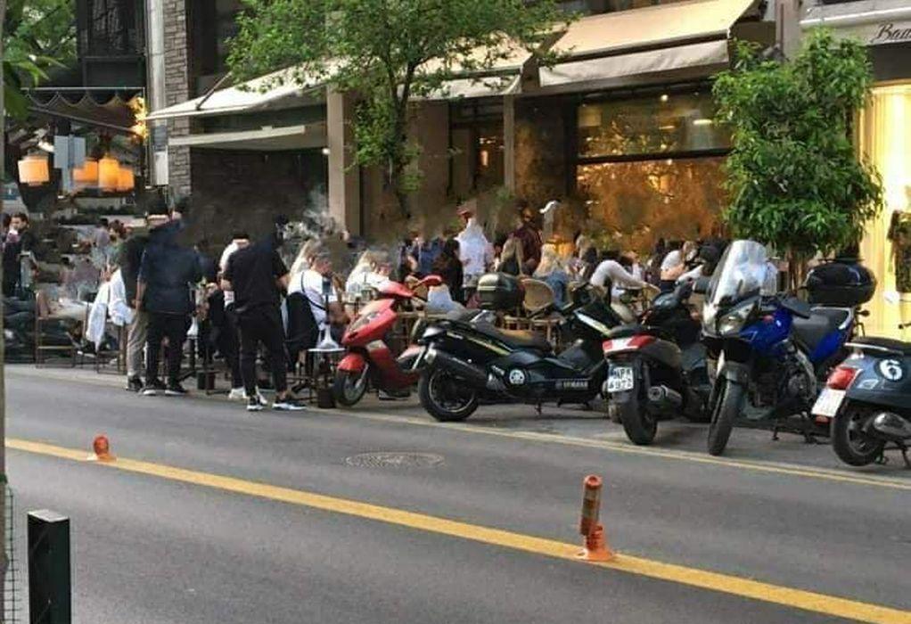 Θεσσαλονίκη: Τραπεζοκαθίσματα ακόμη και μέσα… στο δρόμο (ΦΩΤΟ)