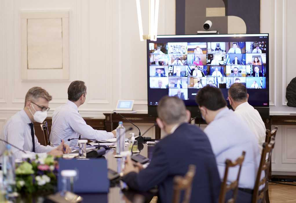Σε εξέλιξη μέσω τηλεδιάσκεψης το Υπουργικό Συμβούλιο