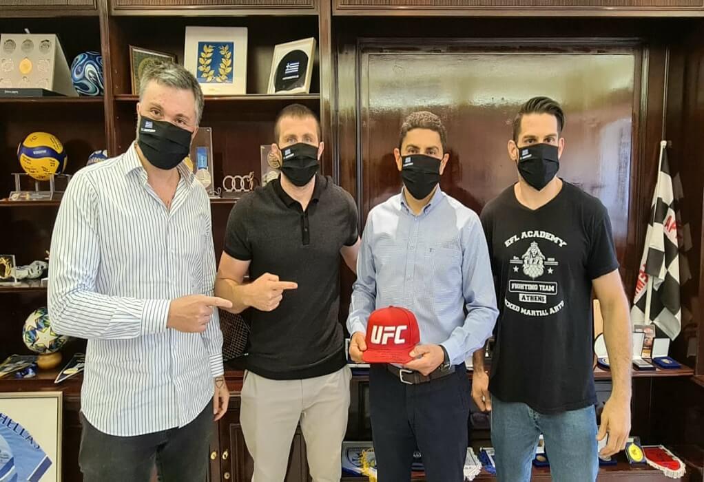 Συνάντηση Αυγενάκη με τον πρωταθλητή MMA Ανδρέα Μιχαηλίδη