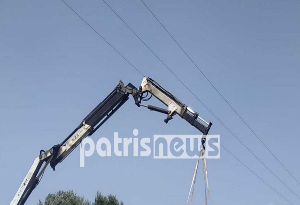 Πύργος: Νεκρός 56χρονος χειριστής γερανού από ηλεκτροπληξία