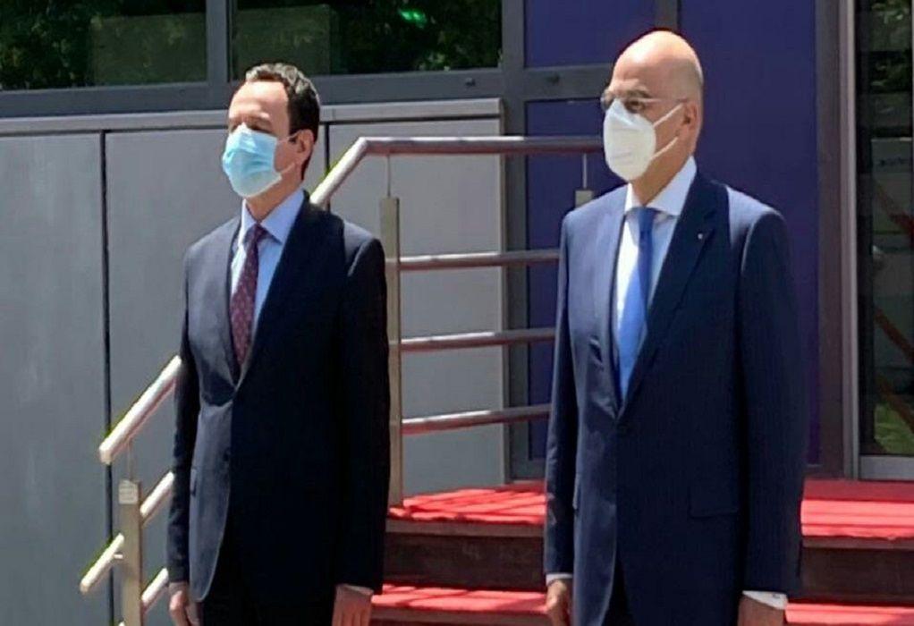 Στην Πρίστινα ο Ν. Δένδιας – Συναντήσεις με Πρόεδρο και τον πρωθυπουργό