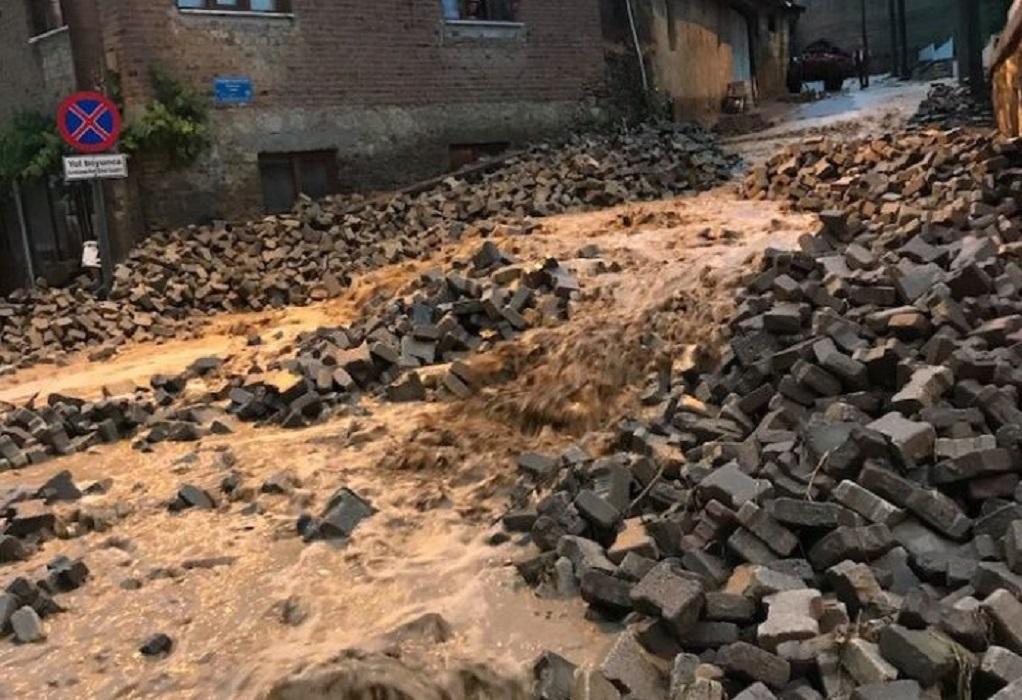 Παλιά Τρίγλια: Καταστροφική βροχόπτωση προκάλεσε ζημιές (ΦΩΤΟ)