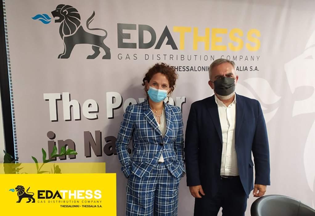 Συνάντηση Μ. Galli και Λ. Μπακούρα για συνεργασία ΕΔΑ ΘΕΣΣ με ΔΕΣΦΑ