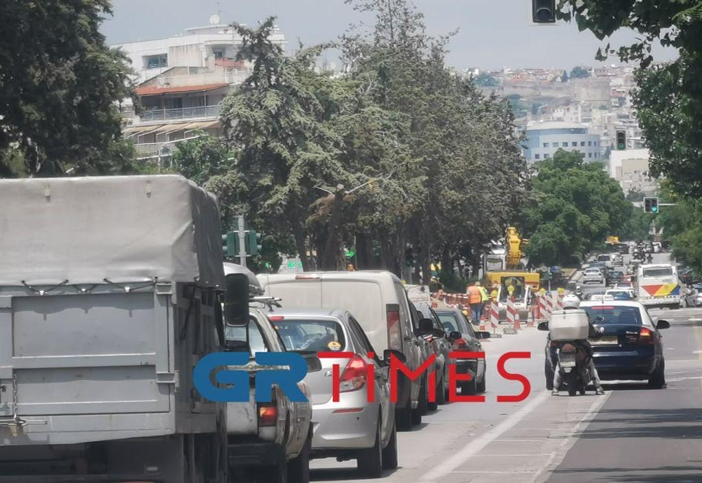 """""""Εργοτάξιο"""" η Θεσσαλονίκη – Υπομονή για τους οδηγούς (ΦΩΤΟ-VIDEO)"""