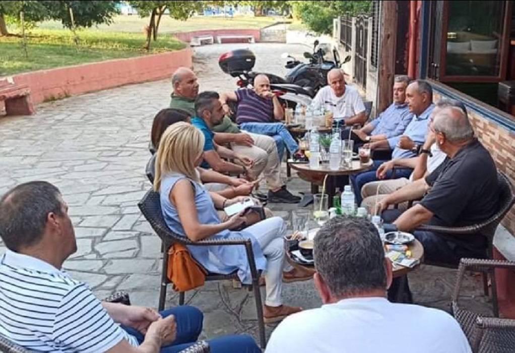 Συνάντηση Καράογλου με μέλη της ΔΗΜΤΟ ΝΔ του Δ. Λαγκαδά