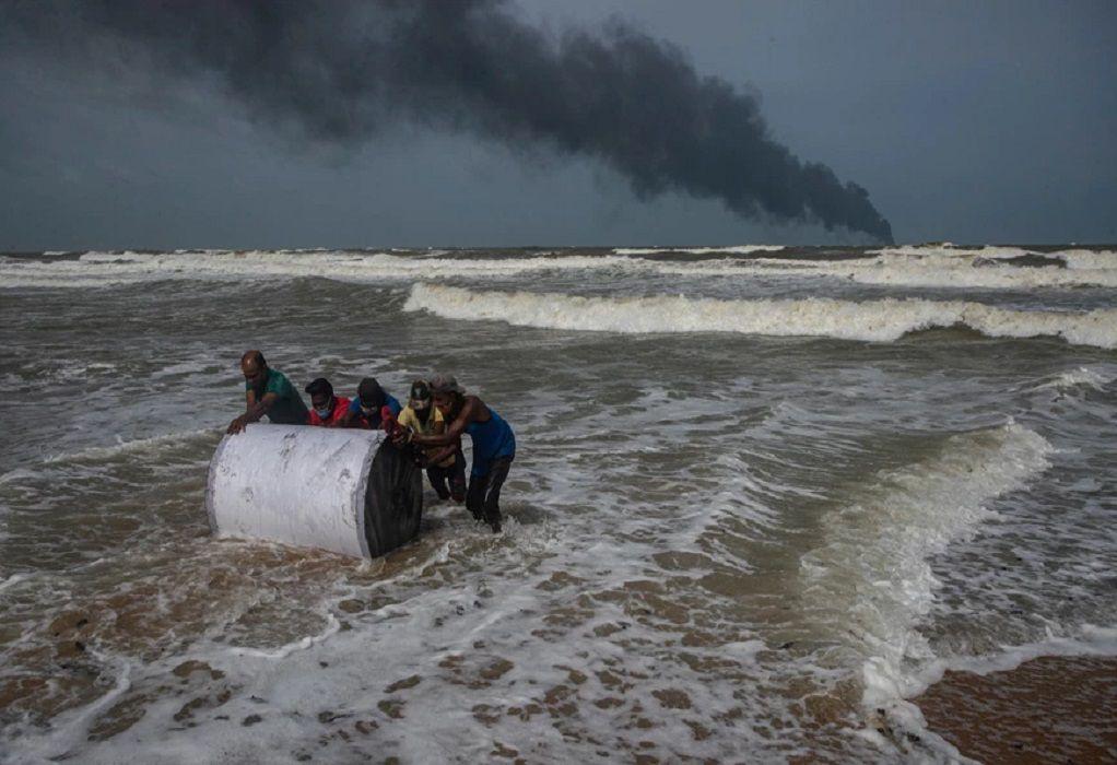 Μεγάλη οικολογική καταστροφή στη Σρι Λάνκα (ΦΩΤΟ)