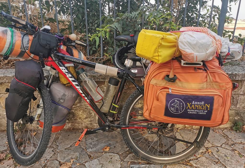 Με το ποδήλατο από τα Χανιά στα Τρίκαλα και σε όλη την Ελλάδα