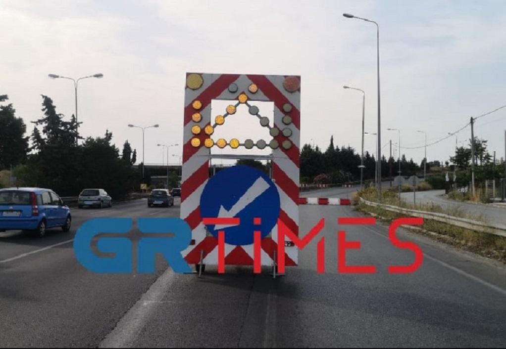 Εργασίες ασφαλτόστρωσης σήμερα στην Περιφερειακή Οδό Θεσσαλονίκης