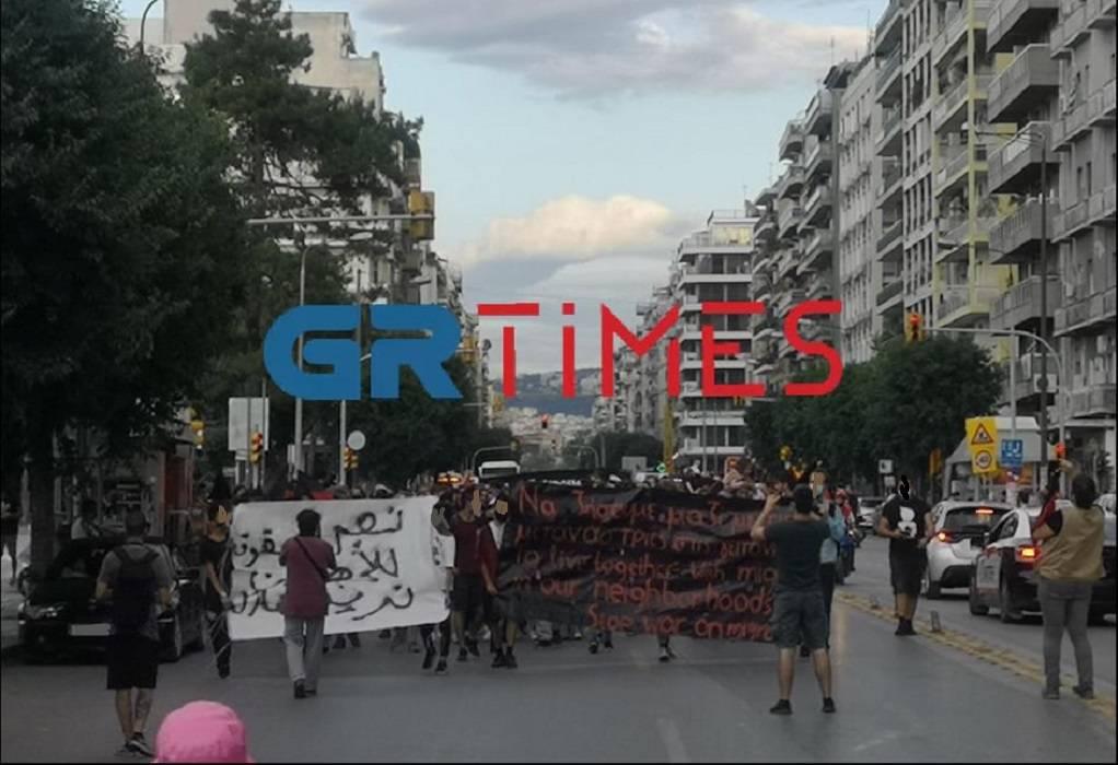 Θεσ/νίκη: Πορεία για τους μετανάστες στο κέντρο (VIDEO)