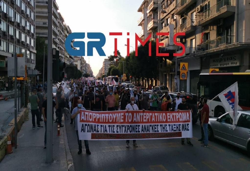 """Θεσσαλονίκη: Πορεία του ΠΑΜΕ για το """"αντεργατικό νομοσχέδιο"""" (ΦΩΤΟ+VIDEO)"""
