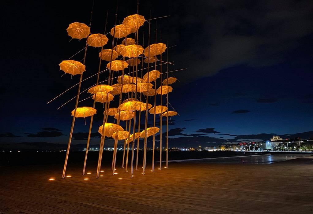 Θεσ/νίκη: Πορτοκαλί οι «Ομπρέλες» του Ζογγολόπουλου (ΦΩΤΟ)
