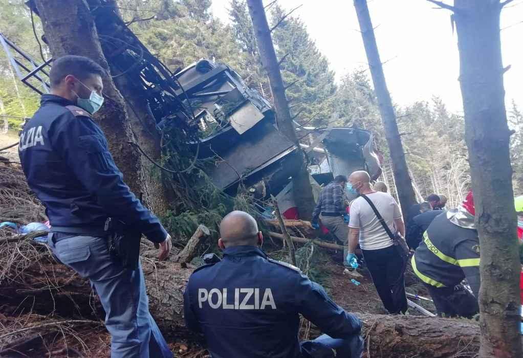 Βίντεο – ντοκουμέντο από την πτώση του τελεφερίκ στην Ιταλία με 14 νεκρούς
